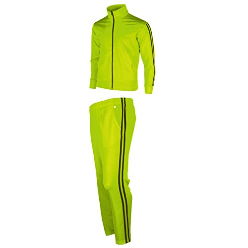 myglory77mall Men's Running Jogging Track Suit Jacket and Pants Warm Up Pants Gym Training Wear M US(XL Asian Tag) Neon Yellow]()