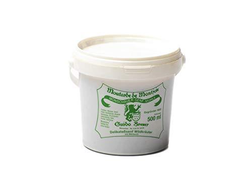 Wildkräuter mit Bärlauch Senf – Monschauer Senf – Moutarde de Montjoie – 500 ml Mosterd Wilde kruiden met daslook