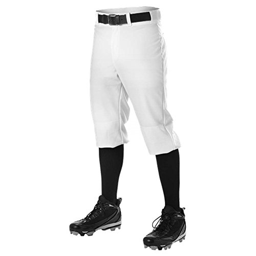 Adult Knickers - DON ALLESON 605PKN BASEBALL KNICKER adult mens PANTS A White M