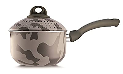 Pensofal 07PEN8318 Army Bioceramix Non-Stick Baby PastaSi Pasta Cooker with Lid, 1-1/2-Quart