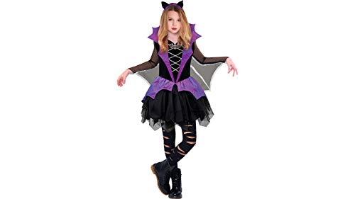 Miss Battiness Vampire Halloween Costume for Girls, Medium, with Included Accessories, by Amscan