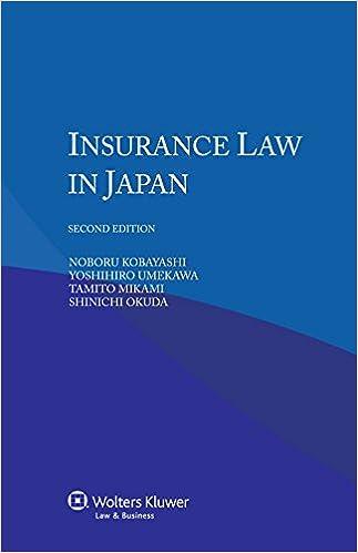 Book IEL Insurance Law in Japan, 2nd edition [POD]