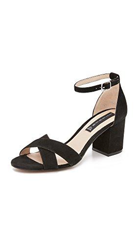 STEVEN by Steve Madden Women Voomme Dress Sandal Black Suede