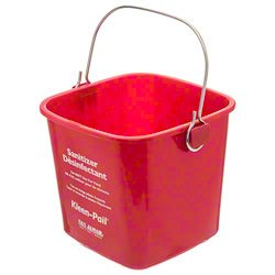 Sanitizing Pail Red 3 qt ()