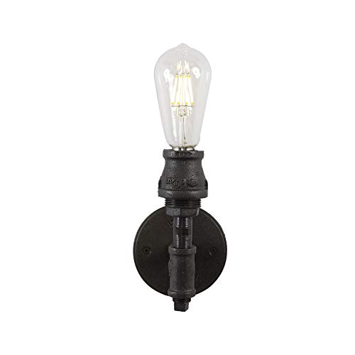 West Ninth Vintage Devon Single Wall Sconce - Authentic Iron Pipe Construction - Industrial Look for Your Home