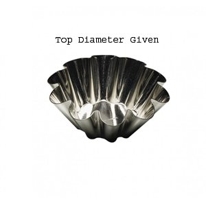Tinned Steel Fluted Tartlet Mold - Paderno Fluted Brioche Heavy Tinned Steel Mold - 3-1/8