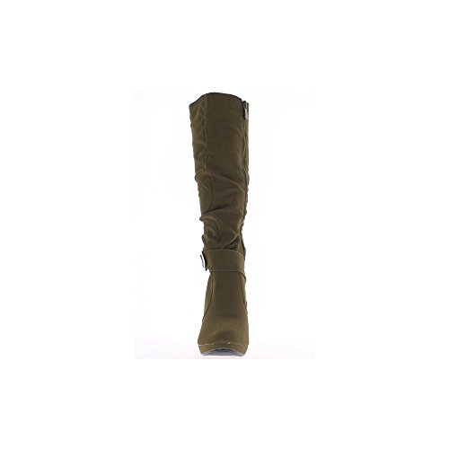 Topo de botas de tacón de 9,5 cm plataforma ante mirada