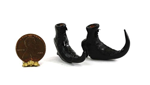 Dollhouse Miniature Pair of Wicked Witch Boots