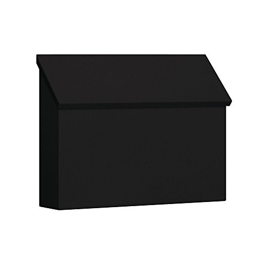 Salsbury Industries 4610BLK Traditional Mailbox, Standard, Horizontal Style, Black (Renewed)