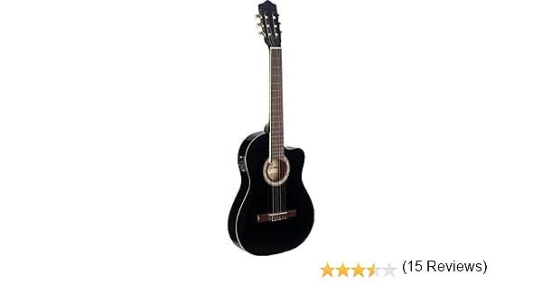 Stagg C546TCE BK Cutaway - Guitarra eléctrica acústica, color negro: Amazon.es: Instrumentos musicales