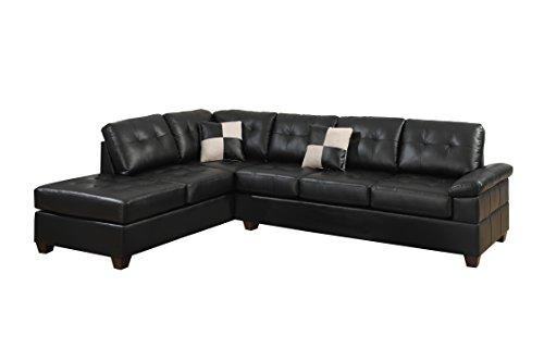 poundex-bobkona-randel-bonded-leather-2-piece-reversible-sectional-sofa-black
