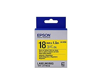 Epson LK-5YB2 cinta para impresora de etiquetas Negro sobre ...