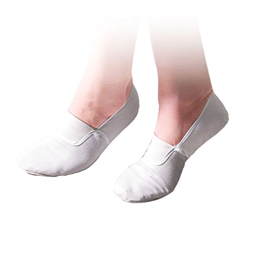 Mesdames Ballet Danse Danse White Flat Chaussures Taille 8.5