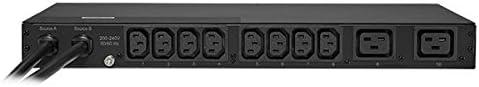 CyberPower PDU20MHVT10AT Metered ATS PDU 1U Rackmount 12 Outlets 200-240V//20A