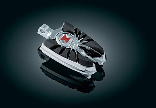 (Kuryakyn 4491 Motorcycle Footpegs: Widow Spider Pegs with Male Mount Adapters, Chrome, 1 Pair)