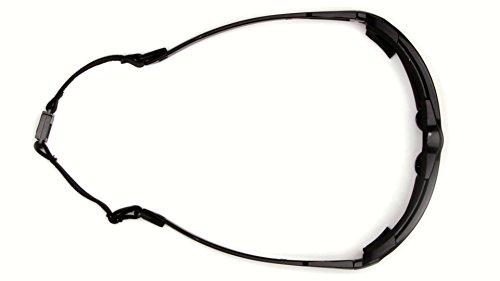 Pyramex Highlander Safety Eyewear, Black Frame/Clear Anti-Fog Lens