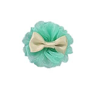 pet hair bows pet dog grooming bows Pet hair clips green