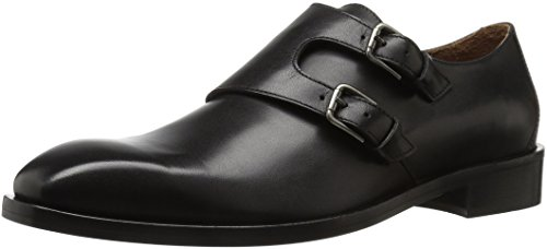 Donald J Pliner Men's Vivaldo Monk Strap Flat, Black Calf, 12 M US Italy Calf Mens Dress Shoes