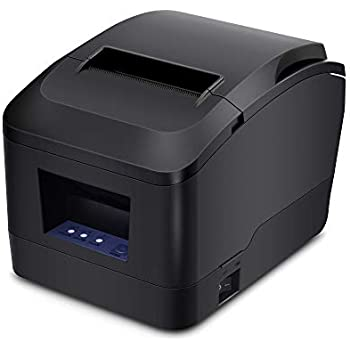 MUNBYN Thermal Printer USB 31/8 80mm Receipt Printer, Pos Printer with Auto Cutter ESC/POS Command Support Windows Mac Pos System
