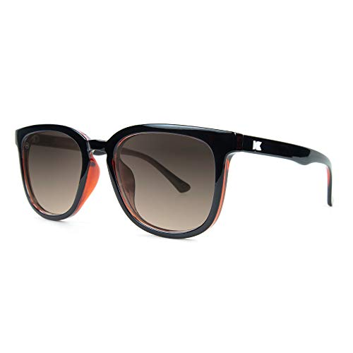 Knockaround Paso Robles Polarized Sunglasses With Glossy Black And Red Frames/Black ()