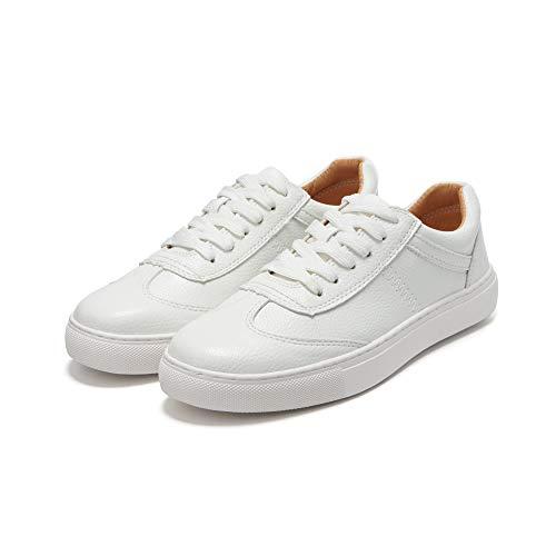 FLYRCX Zapatos Planos Blancos Antideslizantes cómodos de la Moda de la Primavera y del otoño Zapatos de Trabajo de Las señoras de los Zapatos del Solo A