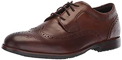 Rockport Men's Dustyn Wing Tip Shoe, new caramel, 11.5 M US