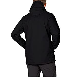 Jack Wolfskin Men's Ridge Jacket, Black, Large