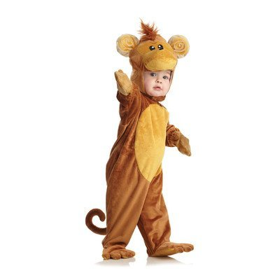 [Underwraps Costumes Baby's Monkey, Brown/Tan, Large] (Jungle Monkey Costumes)