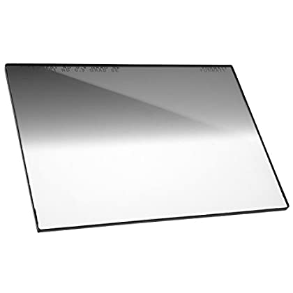 Image of Black & White Contrast Filters Firecrest ND 4x5.65 Neutral Density Horizontal Soft Edge Graduated Filter 0.9 (3 Stops) for video, broadcast and cinema production, compatible with all 4x5.65' matte boxes