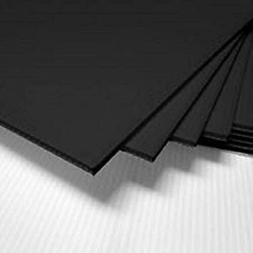 4 Pack Horizontal Corrugated Plastic Coroplast Sheets Sign 4mm Black 48 x 24