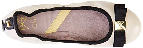 Ballerine 291 Butterfly Avorio Donna Patent Shea cream Twists black TnwPE8