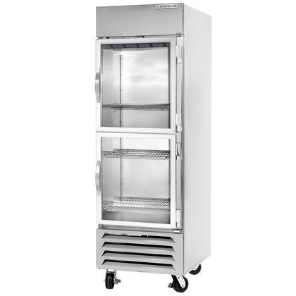 Beverage-Air FB27-1HG 27'' Vista Series One Section Glass Half Door Reach-In Freezer 27 cu.ft. Capacity Stainless Steel Front Robust Gray Painted Exterior Sides Aluminum Interior wi