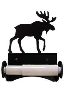 Tt Holder (Monazite TT-B-19 Moose Toilet Tissue Holder With Plastic Roller Powder Metal Coated)