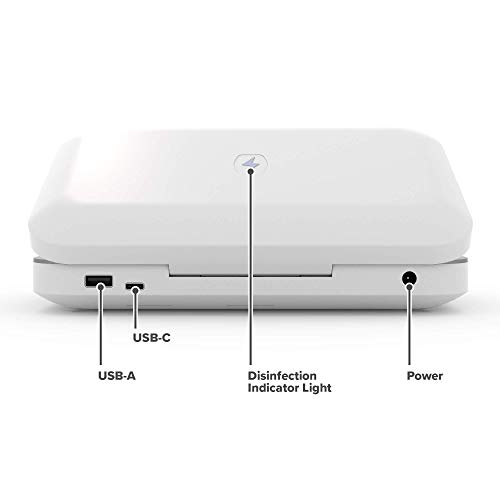 PhoneSoap 3 UV Cell Phone Sanitizer and Dual Universal Cell Phone Charger | Patented and Clinically Proven 360 Degree UV…