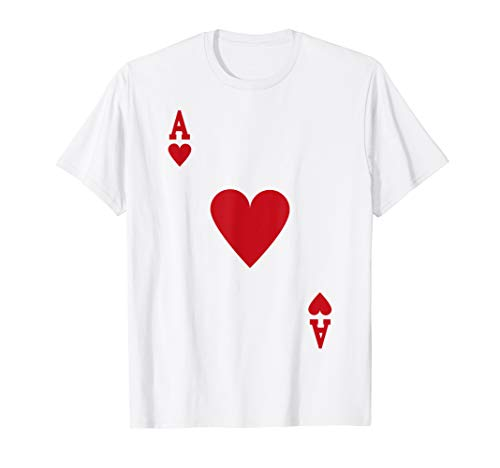 Easy Last Minute Homemade Halloween Costumes Ideas - Halloween Ace of Hearts Costume Shirt