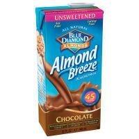 Blue Diamond Chocolate Almond Breeze Unsweetened ( 12x32 OZ) by Almond Breeze