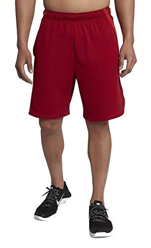 (NIKE Men's Dry Training Shorts (Gym Red/Heather/Black, L))