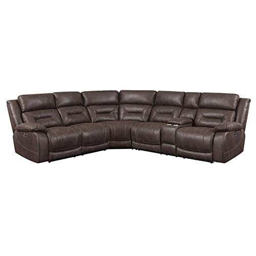 (Steve Silver Aria Saddle Brown 3-Piece Reclining Sectional)