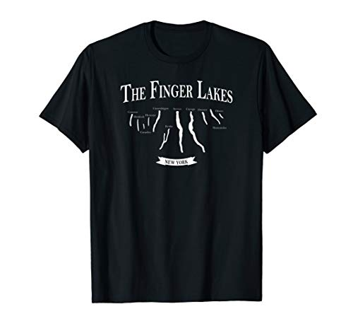 Finger Lakes T-Shirt With Lake Names Cayuga Seneca ()