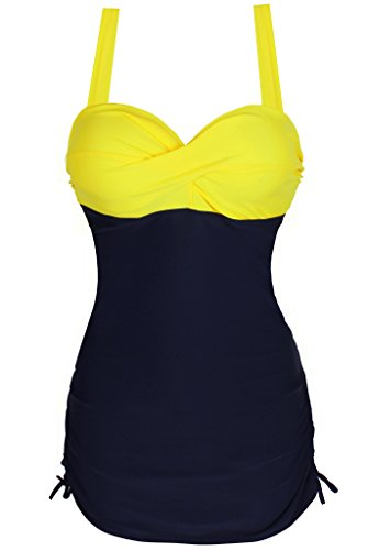 Swimsuit, Abary Wrinkles Slim Fit One-Piece Dress Tank XXXL(US 12-14)