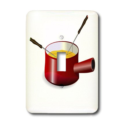 3dRose lsp_41654_1 Retro Fondue Pot With Cheese Single To...
