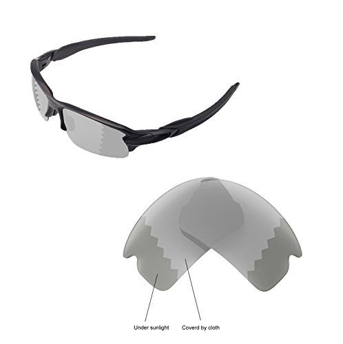 Walleva Replacement Lenses For Oakley Flak 2.0 Sunglasses - Multiple options available (Transition - - Photochromic Flak
