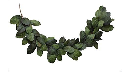 (Vita Domi 6 Foot Magnolia Leaf Garland 2 Tone Green (VTD-ABF-NF2002))