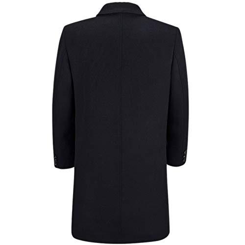 Warm Thick Uomo Da Blend Business Trench Fit Lana Coat Di Cappotti Blackordinario Slim Casual Winter AaCqwxz