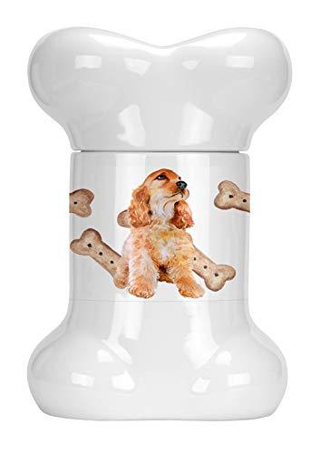- Caroline's Treasures CK2286BSTJ Cocker Spaniel Bone Shaped Treat Jar, multicolor