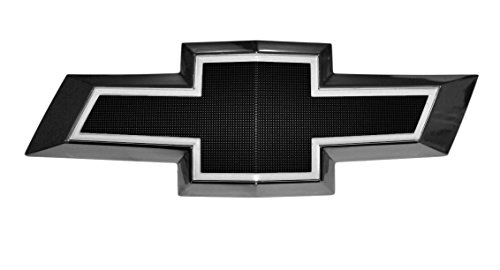 Illuminated Light Up LED Front Grille Bowtie Textured Emblem (Black, White) Fits 2010-15 Chevy (Bow Tie Grille Emblem)
