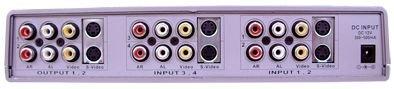 4x2 4:2 Composite RCA S-Video Analog Audio Video Matrix Switch Switcher SB-5450 ()