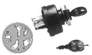 Lawn Tractor Ignition Switch; AYP STD365402, 365402, 3612R,