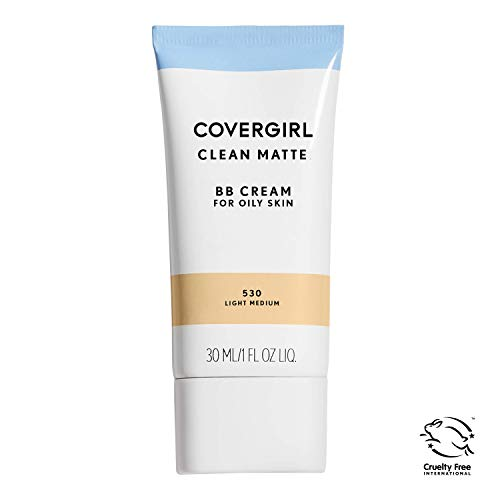 COVERGIRL Clean Matte BB Cream For Oily Skin, Light/Medium 530, 1 oz (Packaging May Vary) Water-Based Oil-Free Matte Finish BB Cream