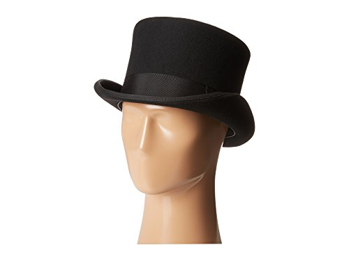 Scala Top Hat - SCALA Men's Wool Felt English Topper Hat, Black, X-Large